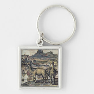 137-0627924 Illustration from a history of Peru sh Silver-Colored Square Keychain