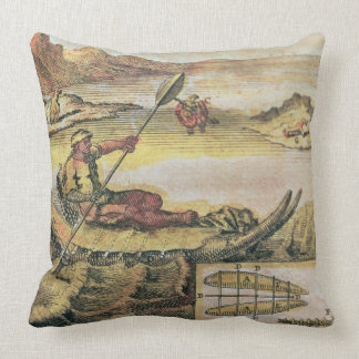 137-627922 Illustration from a history of Chile sh Throw Pillow