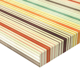 1384 PATTERN STRIPES COLORFUL 70S TEMPLATE BACKGRO CANVAS PRINT