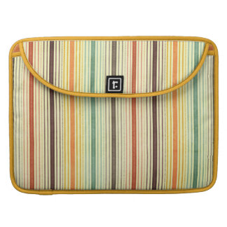 1384 PATTERN STRIPES COLORFUL 70S TEMPLATE BACKGRO SLEEVE FOR MacBook PRO