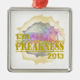 138o Camiseta 2013 de la carrera de caballos del Adorno Navideño Cuadrado De Metal