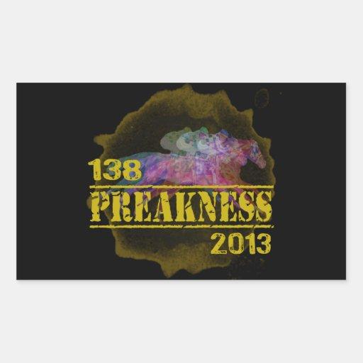 138o Camiseta 2013 de la carrera de caballos del Rectangular Pegatinas