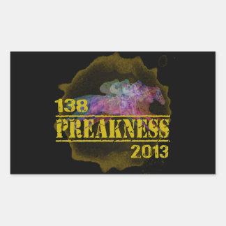 138o Camiseta 2013 de la carrera de caballos del Pegatina Rectangular