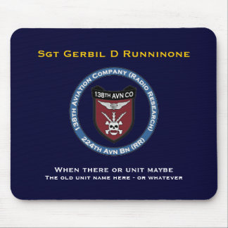 138th Avn Co 3 Mouse Pad