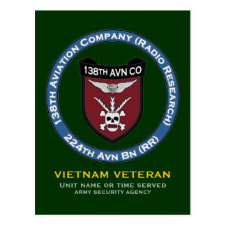138th Avn Co 3 Postcard