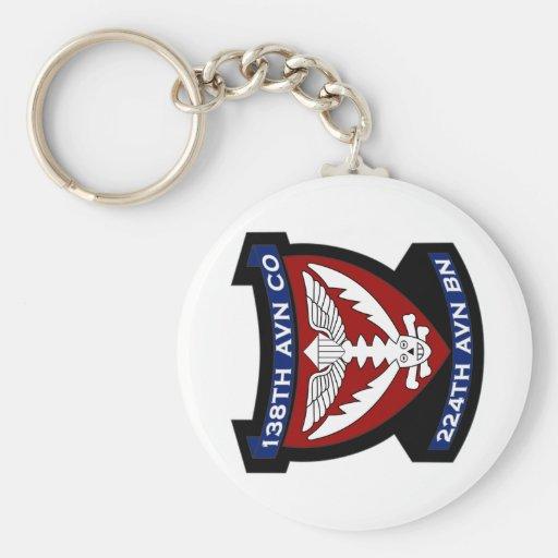 138th Avn Co 4 Basic Round Button Keychain