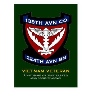 138th Avn Co 4 Postcard