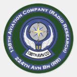 138th Avn Co 8 Classic Round Sticker