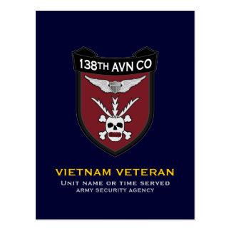 138th Avn Co RR 2 Postcard