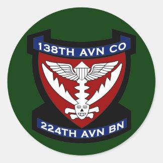 138th Avn Co - RR 2 Vietnam Classic Round Sticker