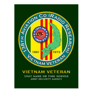 138th Avn - Left Jab 2 - ASA Vietnam Postcard