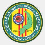 138th Avn - Left Jab 2 - ASA Vietnam Classic Round Sticker