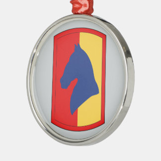 138th Field Artillery Brigade Round Metal Christmas Ornament