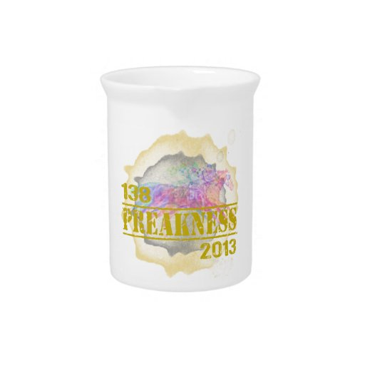 138th Preakness 2013 Horse Racing T-Shirt Drink Pitcher