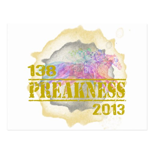 138th Preakness 2013 Horse Racing T-Shirt Post Cards