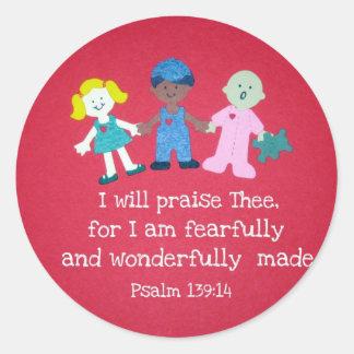 139:14 del salmo etiqueta redonda