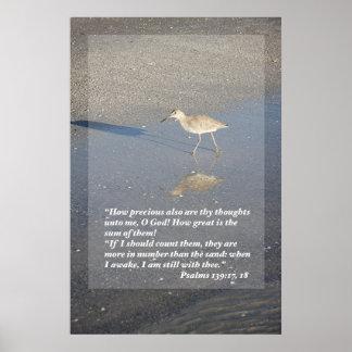 139:17 de los salmos - impresión 18 poster
