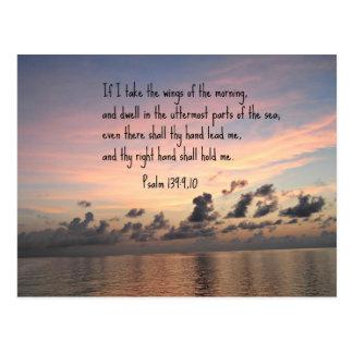 139:9,10 del salmo tarjeta postal
