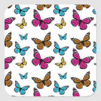 139 COLORFUL CARTOON BUTTERFLIES ASSORTMENT INSECT SQUARE STICKER