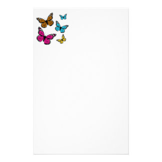 139 COLORFUL CARTOON BUTTERFLIES ASSORTMENT INSECT CUSTOMIZED STATIONERY