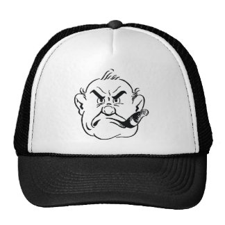 139-Grumpy-Man-Smoking-Cigar-Free-Retro-Clipart-Il Gorros