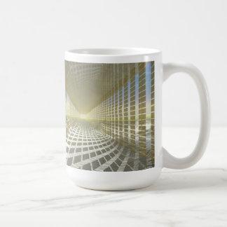 #13-02 Gold Hall: Air Space Reflections Hallway Classic White Coffee Mug