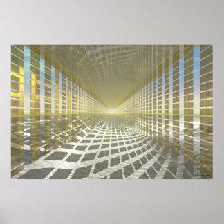 #13-02 oro Pasillo: Vestíbulo de las reflexiones Póster