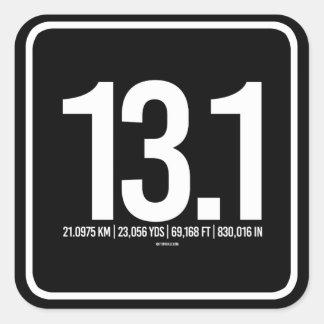 13-1 conversión del kilometraje -   aptitud de pegatina cuadrada