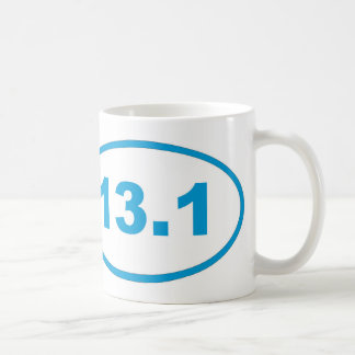 13.1 cyan blue oval coffee mug