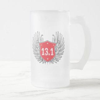13,1 Escudo del Mitad-Maratón Taza De Cristal