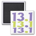 13.1 half marathon 2 inch square magnet