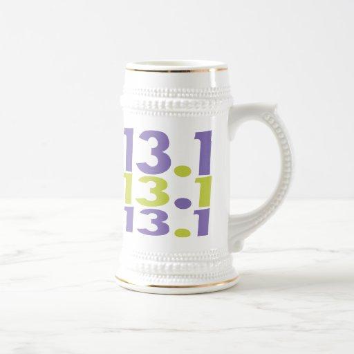 13.1 half marathon beer stein
