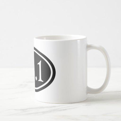 13.1 Half Marathon Black Oval Coffee Mug