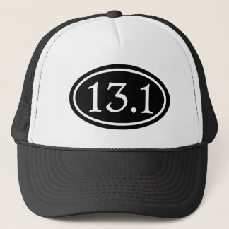 13.1 Half Marathon Black Oval Trucker Hat