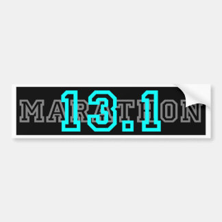 13.1 half Marathon Car Bumper Sticker
