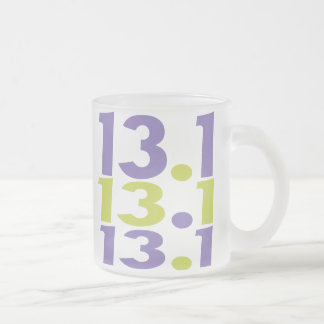 13.1 half marathon frosted glass coffee mug