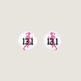 13.1 Half Marathon Girl Earrings