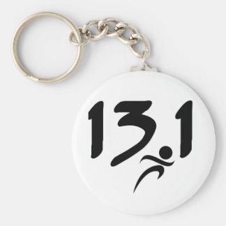 13.1 half-marathon keychain