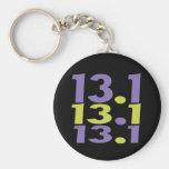 13.1 half marathon keychain
