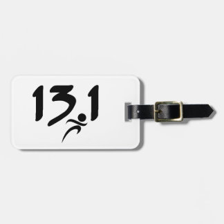 13.1 half-marathon tag for luggage