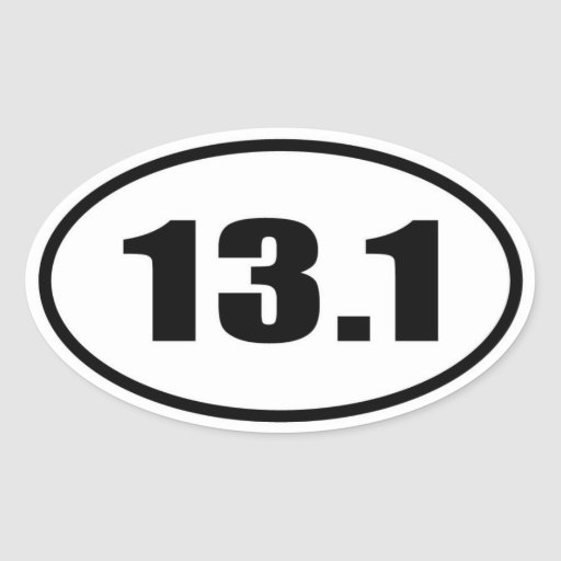 13.1 Half Marathon Oval Oval Sticker