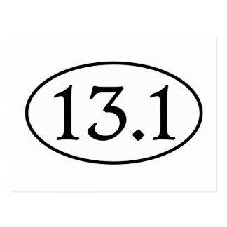 13.1 Half Marathon Oval Postcard