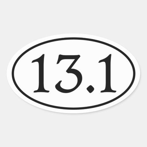 13.1 Half Marathon Oval Oval Stickers