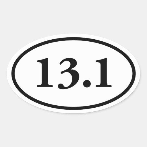 13.1 Half Marathon Oval Stickers