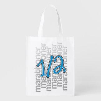 13.1 Half Marathon Pattern Shopping Bag - Running Market Tote