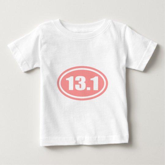 13.1 Half Marathon Pink Oval Baby T-Shirt
