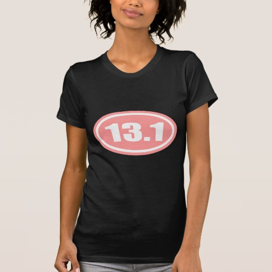 13.1 Half Marathon Pink Oval T-Shirt