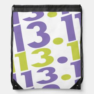 13.1 half marathon drawstring bag