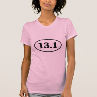 13.1 Half Marathon Runner Oval T-shirt