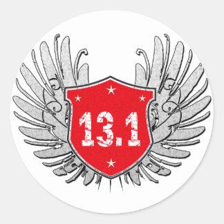 13.1 Half-Marathon Shield Classic Round Sticker